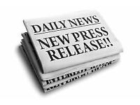 We will write a professional press release with UK distribution - papers, magazines, blogs etc