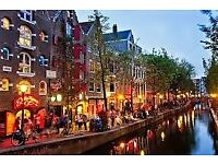 X2 Return flights to Amsterdam