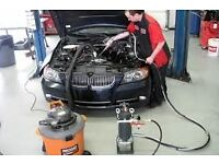 BMW N47 N57 TURBO-DIESEL INLET VALVES CLEANING DECOKE WALNUT BLASTING CARBON REMOVAL SERVICE