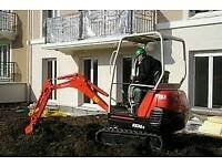 Mini Digger and Driver Hire All Aspects of Groundworks/ Driveways