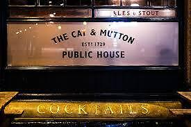 Full and Part time Bartenders needed for Broadway Market's Cat and Mutton
