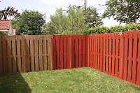 Fence painting & wood staining available