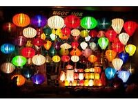 WEDDING OR PARTY LANTERNS SILK BAMBOO FROM VIETNAM