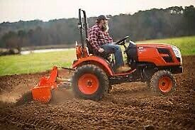 Tractor with Tiller or Chipper  Rental.