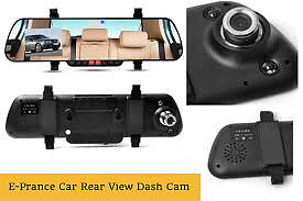 rear view mirror dual dash cam for car front and back