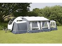 Caravan air awning. Kampa classic air 380 expert with tall annexe and conservatory