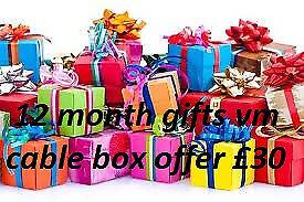 12 month gift vm cable box istar mutant zgemma amiko combo mag box evo nova mutant skybox vbox