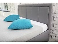 OTTOMAN STORAGE GAS LIFT UP DOUBLE FABRIC BED NEW £120