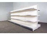 Used shop fitting shelves Double sided Gondolas