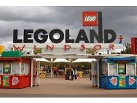 2 X LEGOLAND TICKETS FOR TUESDAY 26th JULY 2016 26.07.16 - LEICESTER