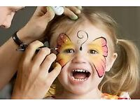 FACE PAINTING & GLITTER TATTOOS for hire/ Popcorn&Candy Floss/ Bouncy Castles + more/ Essex & London