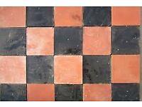 6x6 Quarry tiles Red, Black,Buff
