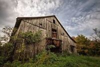 Have on old wooden barn ? Be my business partner-444-