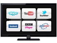 Panasonic 37inch smart tv with blu ray DVD player
