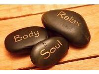 Relaxing massage in lovely setting.