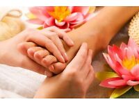 Facials, Indian head massage and reflexology treatments.