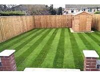 Turf/garden maintenance fencing slabbing decking grass cutting