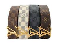 mens belts designer £15 each 2 for £25 and wallets £5