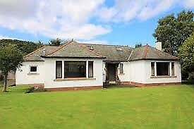 4 Bedroom house to rent, Innerleithen, garden, garage, sheds, GCH, 2 ensuites, open fire