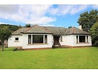 4 Bedroom house to rent, Innerleithen, garden, garage, sheds, GCH, 2 ensuites, open fire