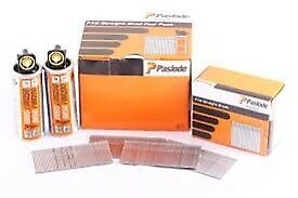 New Paslode straight finishing nails 50mm & 63mm. 3boxes for £40