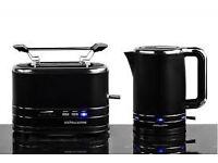Andrew James Breakfast Duo set - Kettle and Toaster - matt black