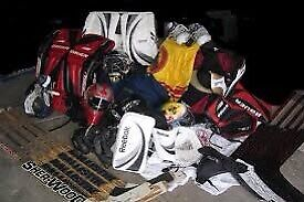 Looking for well used men's hockey gear