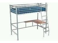 Single high sleeper bunk bed