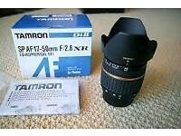 Tamron 17 to 50 f2.8 nikon