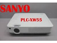 Sanyo PLC-XW55 projector with Laser Pointer Remote - Good Working Order - Poor Cosmetically