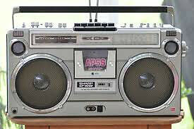 80's BOOMBOX, Ghettoblaster, Vintage, retro, old school stereo