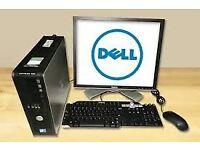 "job lot HP/DELL 17"" inc Screen Monitor computer desktop set PC 1GB-2GB RAM 80GB HDD joblot wholesale"