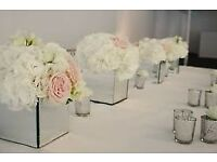 MIRROR CUBE VASES/CONTAINERS-VARIOUS SIZES/PRICES