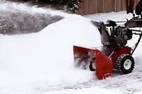 Man with Truck Snow Removal