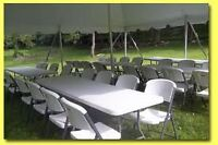 TABLE AND CHAIR RENTALS FROM ULTIMATE PARTY!!!!