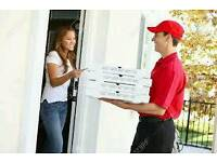delivery driver need for halal pizza takeaway