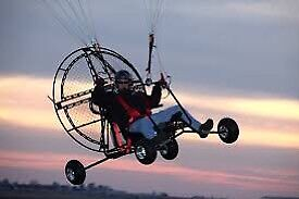 Paramotor and paraglide kit with quad and trailer
