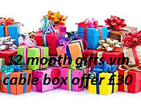 gifts 12 month lines mag box . vm cable box amiko openbox istar skybox zgemma combo