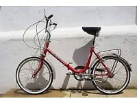 2 x vintage foldable bicycles