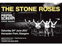 2 x Stone Roses seated tickets- Hampden Park 24th June 2017