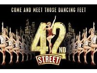 Tickets to see 42nd Street in London inclding travel