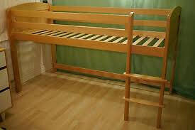 A mid sleeper (raised bed ) by Aspace (Beech 3095) Excellent quality .
