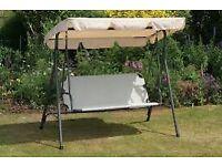 Cream double garden swing seat brand new