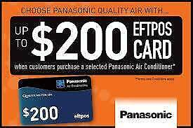 PANASONIC 8KW REVERSE CYCLE INVERTER GET $200 CASH BACK Caboolture Caboolture Area Preview