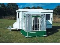 caravan porch awning for foldaway carousel ,porch 6 foot x 5 foot,door each side