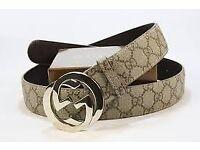 UNISEX designer real leather belt