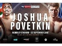 Anthony Joshua vs Alexander Povetkin Tickets for SALE!!!! ONLY A FEW LEFT!