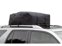car roof bag similar to roof box idea used once, reduced for quick sale