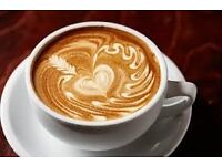 Full time Barista for coffee shop/newsagents required