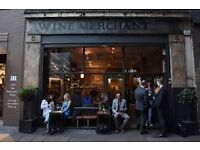 Waiting staff wanted for wine bar in Borough Market (Bedales Wines)